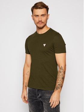 Guess Guess T-Shirt M0BI36 I3Z11 Zielony Slim Fit