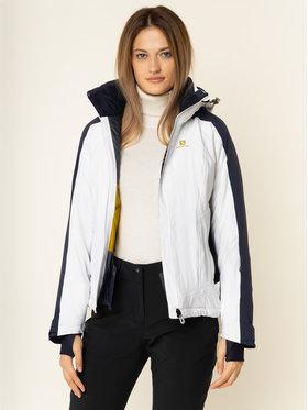 Salomon Salomon Lyžařská bunda Brilliant LC1210100 Bílá Regular Fit