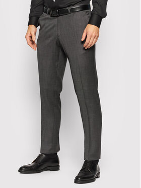 Carl Gross Carl Gross Pantaloni de costum Cg Flann 061S0-70 Gri Regular Fit
