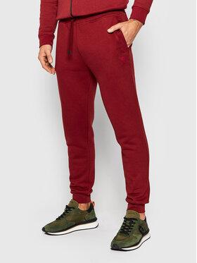 Guess Guess Spodnie dresowe U1YA04 K9V31 Bordowy Regular Fit