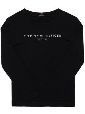 TOMMY HILFIGER TOMMY HILFIGER Blúz Essential KB0KB06105 D Fekete Regular Fit