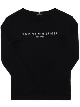 TOMMY HILFIGER TOMMY HILFIGER Bluză Essential KB0KB06105 D Negru Regular Fit