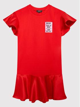 DKNY DKNY Ежедневна рокля D32800 D Червен Regular Fit