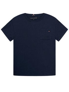 TOMMY HILFIGER TOMMY HILFIGER T-shirt Pocket Sleeve Detail Tee KB0KB06132 D Bleu marine Regular Fit