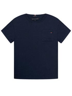 TOMMY HILFIGER TOMMY HILFIGER T-Shirt Pocket Sleeve Detail Tee KB0KB06132 D Σκούρο μπλε Regular Fit