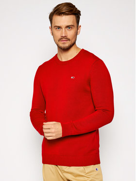 Tommy Jeans Tommy Jeans Sweater Essential DM0DM08801 Piros Regular Fit