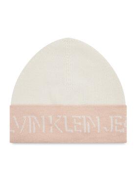 Calvin Klein Jeans Calvin Klein Jeans Mütze Shadow Logo Knit Beanie K60K608676 Weiß