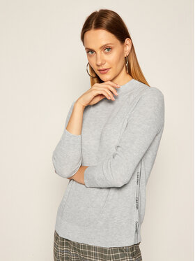 Calvin Klein Calvin Klein Пуловер Wafle Stitch K20K202171 Сив Regular Fit