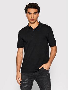 Selected Homme Selected Homme Тениска с яка и копчета Paris 16072841 Черен Regular Fit