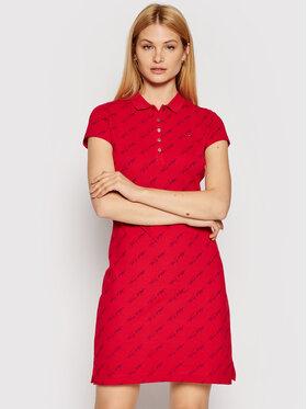 Tommy Hilfiger Tommy Hilfiger Každodenní šaty Printed Short WW0WW26193 Červená Slim Fit