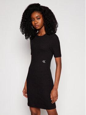 Calvin Klein Jeans Calvin Klein Jeans Každodenní šaty J20J215679 Černá Slim Fit