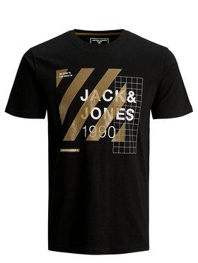 Jack&Jones Jack&Jones T-Shirt Miguel 12179742 Μαύρο Slim Fit