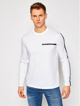 Armani Exchange Armani Exchange Marškinėliai ilgomis rankovėmis 3KZTFE ZJH4Z 1100 Balta Regular Fit
