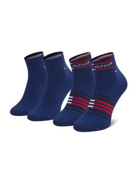Tommy Hilfiger Tommy Hilfiger Súprava 2 párov členkových pánskych ponožiek 100002212 Tmavomodrá