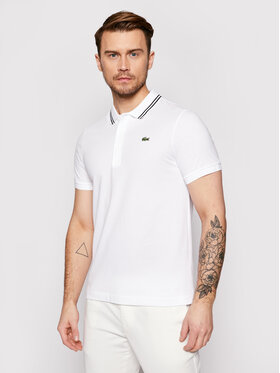 Lacoste Lacoste Тениска с яка и копчета YH1482 Бял Regular Fit