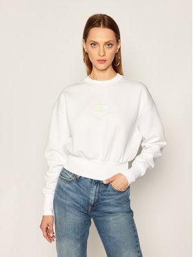 Calvin Klein Jeans Calvin Klein Jeans Bluza J20J214208 Biały Regular Fit