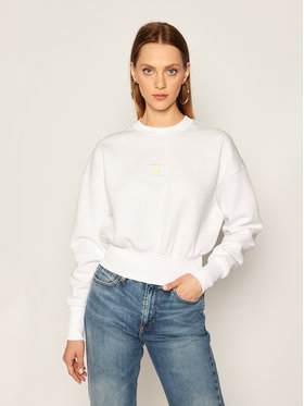Calvin Klein Jeans Calvin Klein Jeans Mikina J20J214208 Biela Regular Fit