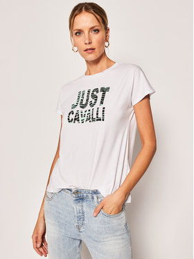 Just Cavalli Just Cavalli T-Shirt S04GC0374 Bílá Regular Fit