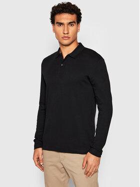 Selected Homme Selected Homme Тениска с яка и копчета Paris 16075838 Черен Regular Fit
