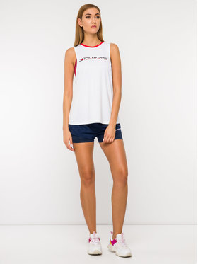 Tommy Sport Tommy Sport Top Open Back S10S100271 Biały Regular Fit