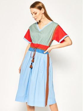 Tory Burch Tory Burch Hétköznapi ruha Color-Block Poplin 63610 Színes Regular Fit