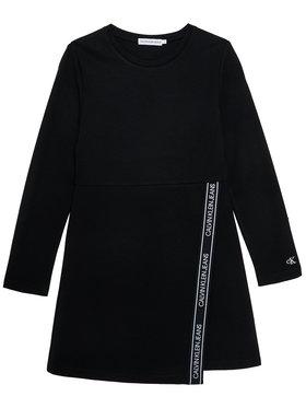 Calvin Klein Jeans Calvin Klein Jeans Sukienka codzienna Logo Punto IG0IG00718 Czarny Regular Fit