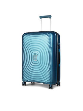 Puccini Puccini Közepes keményfedelű bőrönd Buemps Aires PP017B 7 Kék