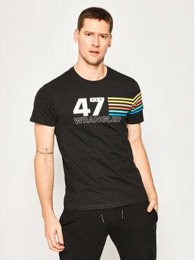 Wrangler Wrangler T-shirt Rainbow W7F1FKXV6 Nero Regular Fit