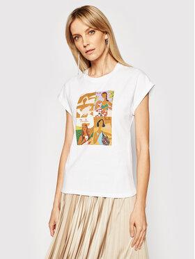Marella Marella T-Shirt Giulia 39410512200 Biały Regular Fit