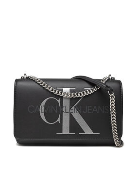 Calvin Klein Jeans Calvin Klein Jeans Τσάντα Sculpted Conv E/W Flap Silver K60K608379 Μαύρο