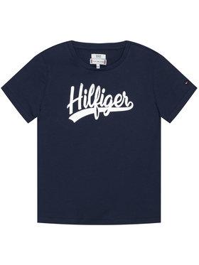 TOMMY HILFIGER TOMMY HILFIGER Póló Foil Tee KG0KG05545 Sötétkék Regular Fit
