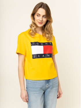 Tommy Jeans Tommy Jeans T-Shirt Flag DW0DW07153 Gelb Oversize