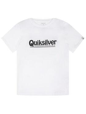 Quiksilver Quiksilver T-Shirt New Slang EQBZT04143 Λευκό Regular Fit
