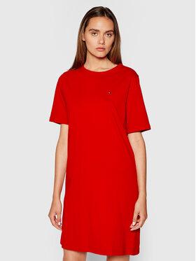 Tommy Hilfiger Tommy Hilfiger Повсякденна сукня Glb Stp Shift WW0WW30371 Червоний Loose Fit