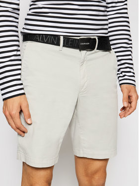 Calvin Klein Calvin Klein Szorty materiałowe Garment Dye Belted K10K107164 Szary Slim Fit