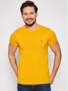 Tommy Hilfiger Tommy Hilfiger T-Shirt Stretch MW0MW10800 Gelb Slim Fit