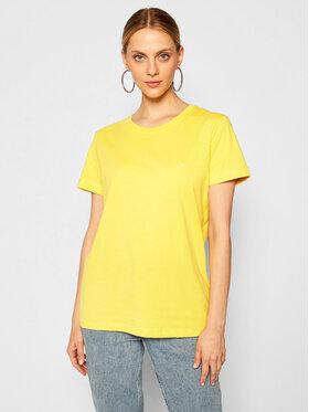 Calvin Klein Calvin Klein T-Shirt K20K202132 Żółty Regular Fit