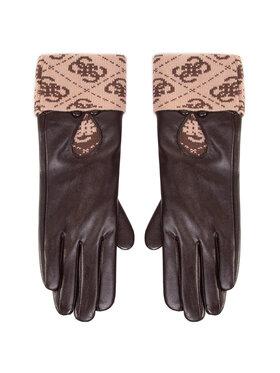 Guess Guess Dámské rukavice Valy Gloves AW8545 POL02 Hnědá