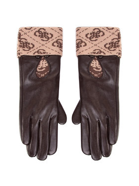 Guess Guess Дамски ръкавици Valy Gloves AW8545 POL02 Кафяв