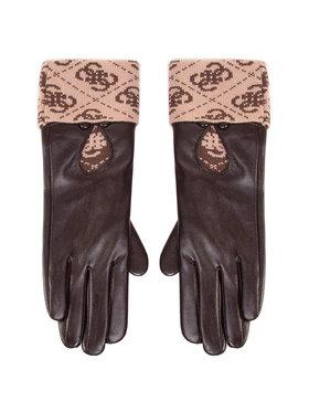 Guess Guess Rękawiczki Damskie Valy Gloves AW8545 POL02 Brązowy