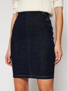 Guess Guess Džinsinis sijonas Ultra Midi W1RD60 D4AK2 Tamsiai mėlyna Slim Fit