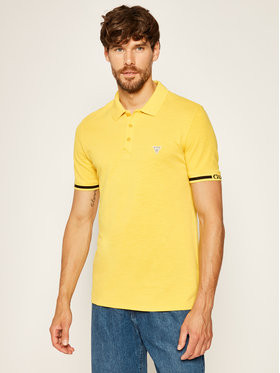 Guess Guess Polo Geoff M02P48 K7O80 Κίτρινο Slim Fit