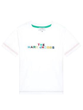 Little Marc Jacobs Little Marc Jacobs Marškinėliai W25467 S Balta Regular Fit