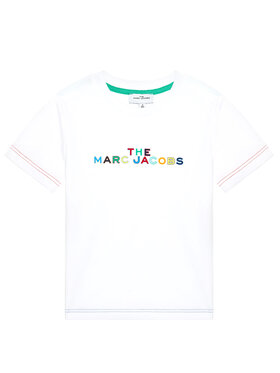 Little Marc Jacobs Little Marc Jacobs T-Shirt W25467 S Biały Regular Fit