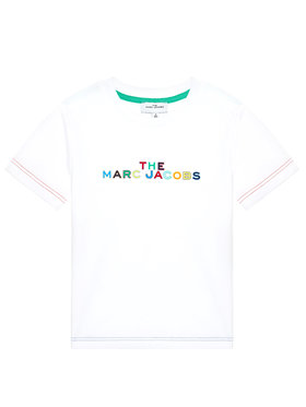 Little Marc Jacobs Little Marc Jacobs Тишърт W25467 S Бял Regular Fit