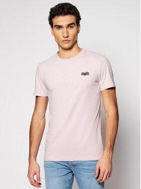 Superdry Superdry T-Shirt Ol Vintage Emb Crew M1010024A Różowy Regular Fit