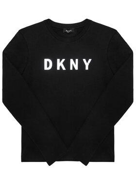 DKNY DKNY Bluzka D35Q78 D Czarny Regular Fit