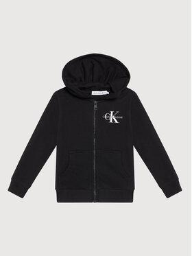 Calvin Klein Jeans Calvin Klein Jeans Sweatshirt Monogram IU0IU00206 Schwarz Regular Fit
