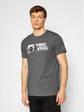 4F 4F T-Shirt H4L21-TSM060 Grau Regular Fit