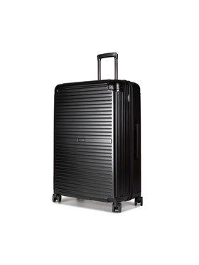 Puccini Puccini Nagy kemény borítású bőrönd Dallas PC027A 1 Fekete